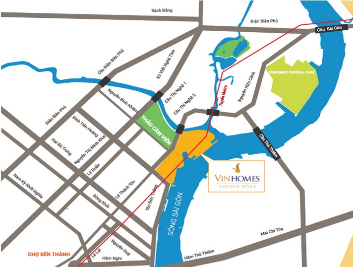 Location of Vinhomes Golden River